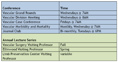 Conference Schedule 2014-15