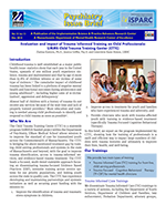 Evaluation and Impact of Trauma Informed Training on Child Professionals:UMMS Child Trauma Training Center (CTTC) thumbnail