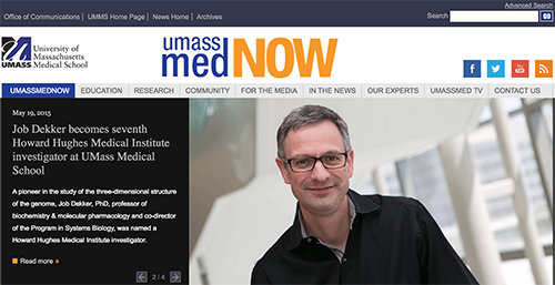 UMassMedNow - an interactive media news site