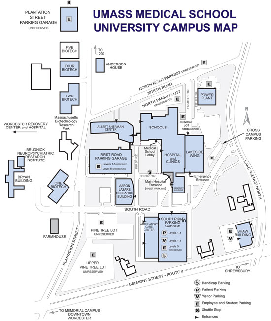 Campus Map - University of Massachusetts Medical School
