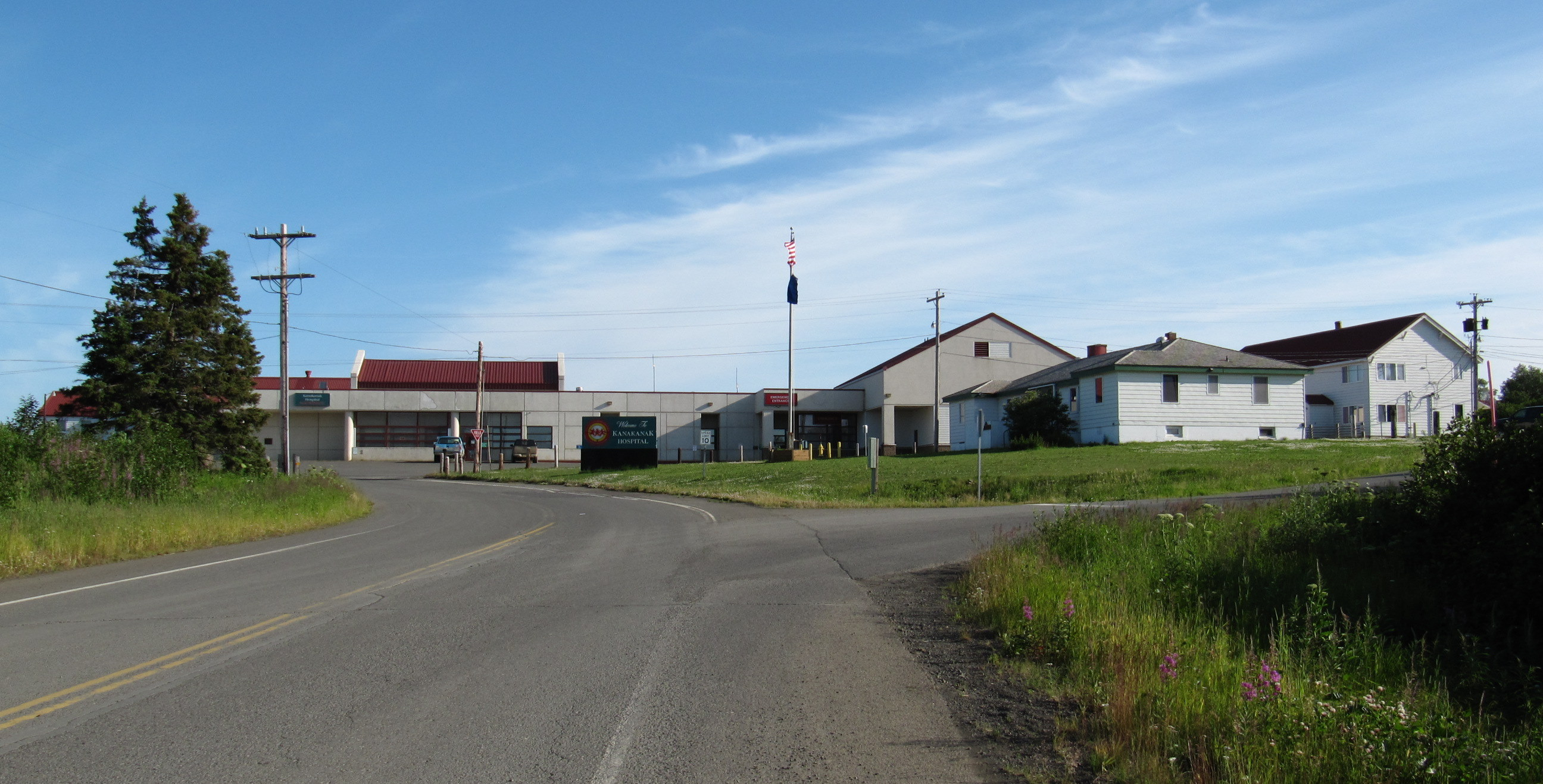 Alaska Picture-view of hospital entrance