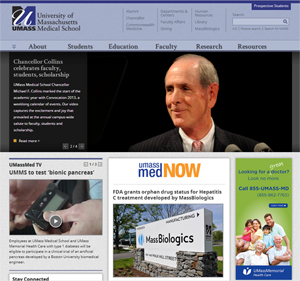 New look for UMMS homepage