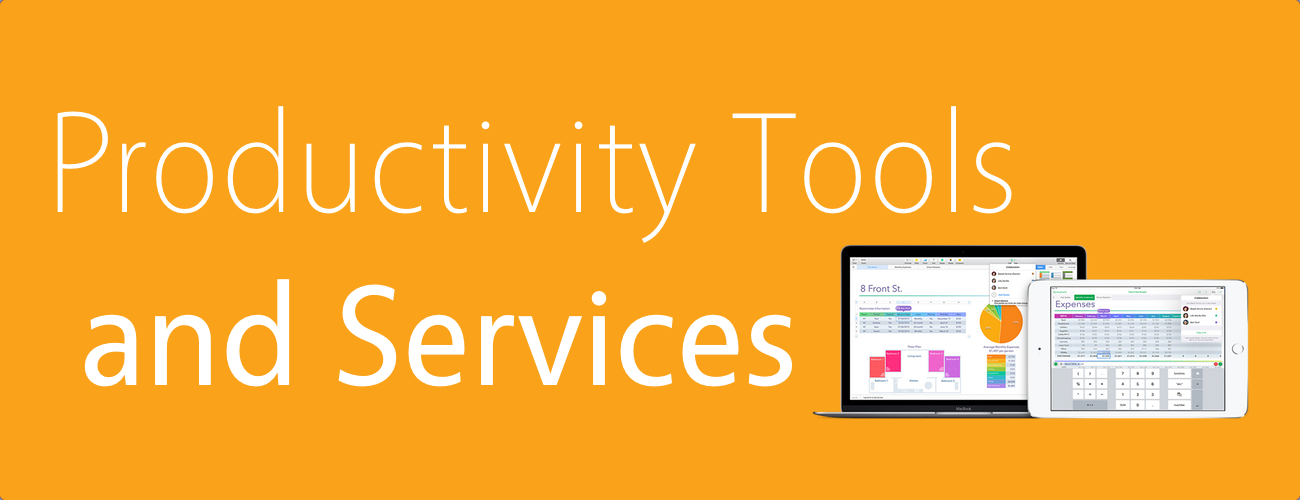 Productivity Tools and Services Banner