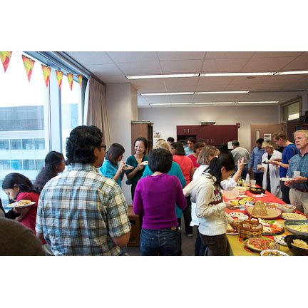 Good food and good company at the 4th annual Rivera lab fiesta