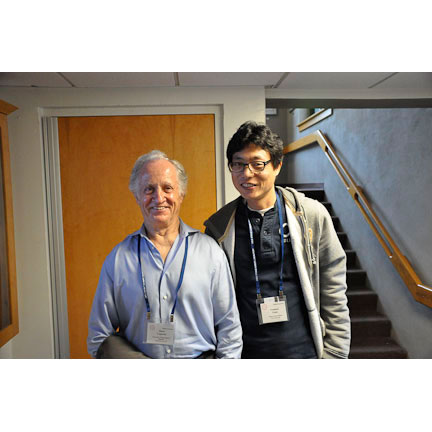 Nobel prize winner Mario Capecchi with future winner...Yeonsoo Yoon