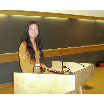 Beauty and Brains: Tingting all smiles at Grace auditorium where she had a platform presentation