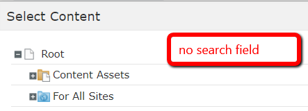 version 10.10 missing search
