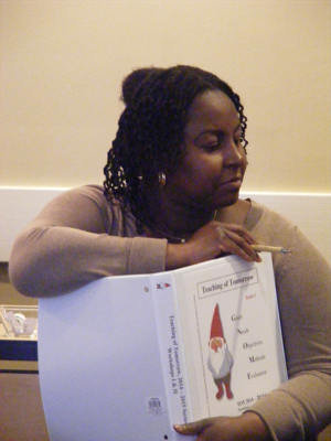 Woman with TOT book