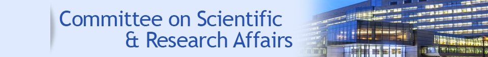 Committee on Scientific and Research Affairs banner