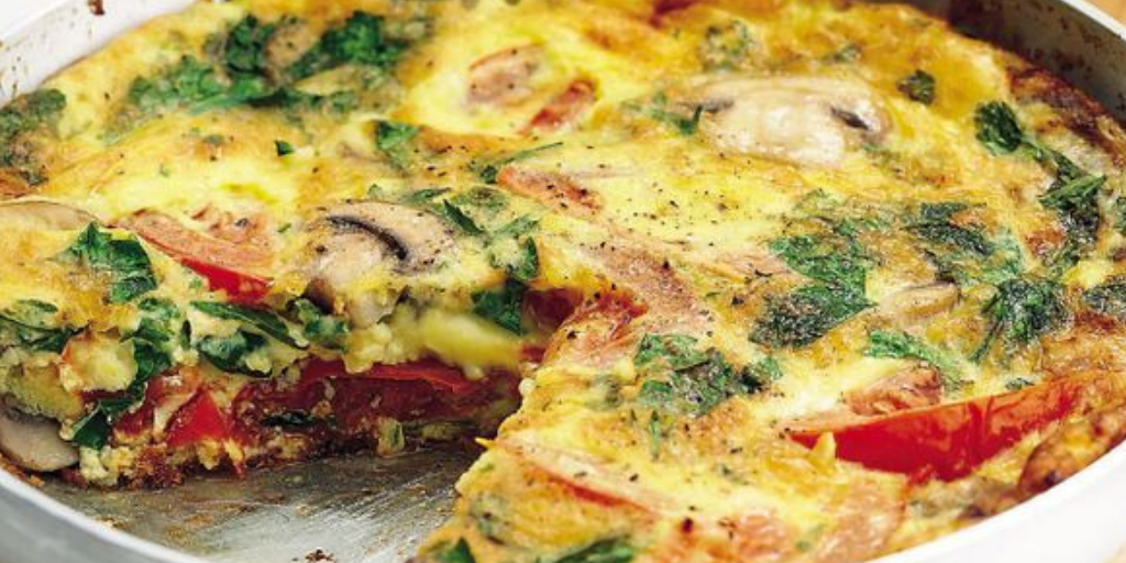 Diabetic Recipe Spinach Mushroom Tomato Frittata Umass