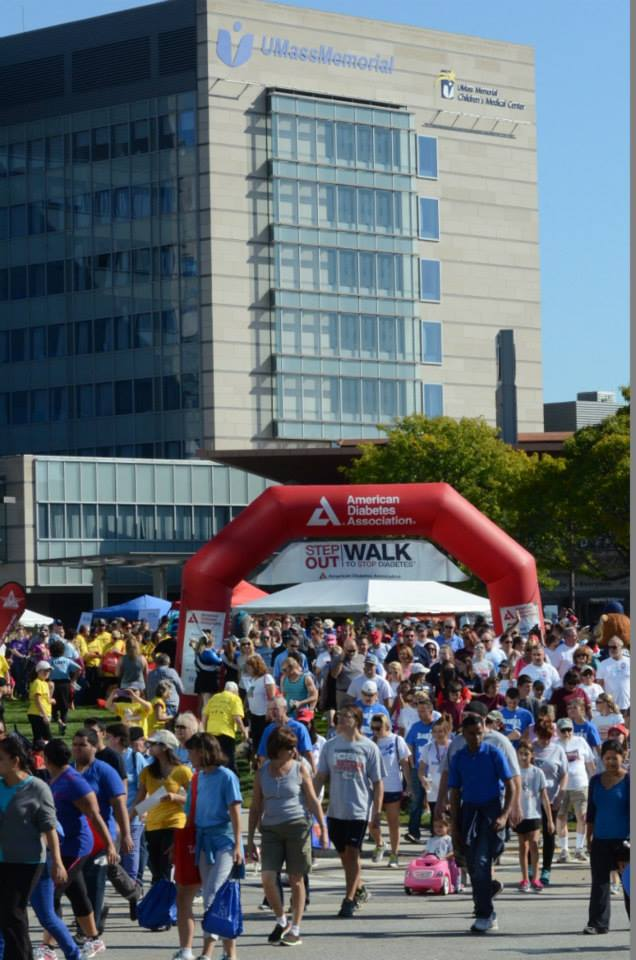 American Diabetes Association Walk to Stop Diabetes on the UMass campus