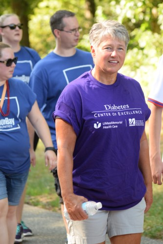 Patients, physicians, families and friends made up the UMass DCOE Walk Team