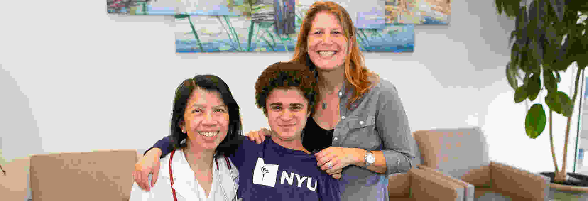 The Duchenne Program's Founding Director Dr. Brenda Wong with Charley and Tracy Seckler