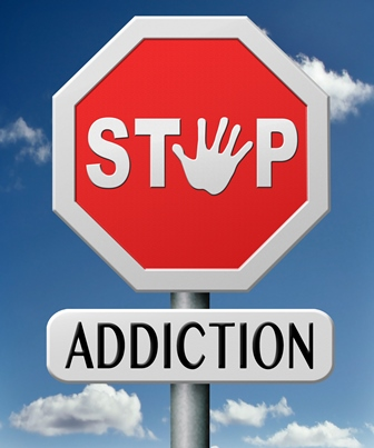 Stop addiction stop sign
