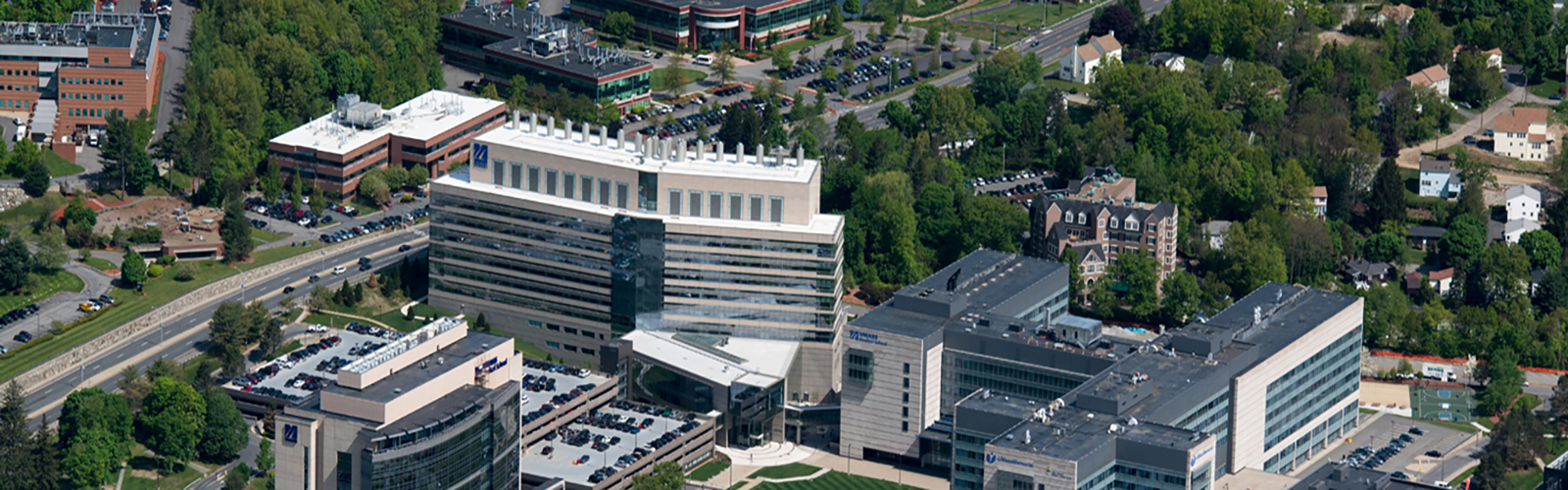 UMass Medical School Campus Aerial View