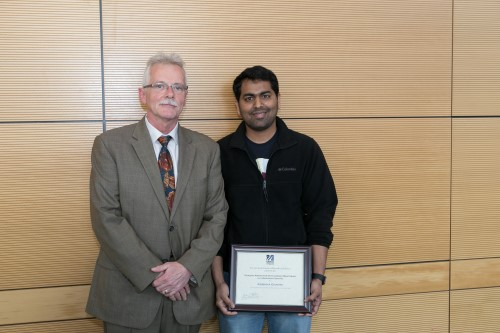 Dean Anthony Carruthers and Krishna Ghanta, recipient of the Outstanding Mentor Award
