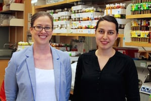 Kamber Kaya and Hall representing women in science at The Allied Genetics Conference