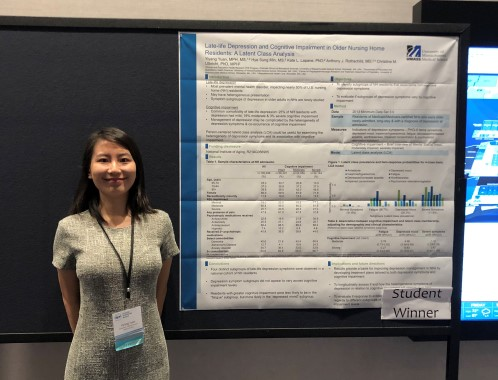 Yiyang Yuan, MS, MPH with poster at 2019 Annual Meeting of the Society for Epidemiologic Research