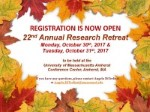 Research Retreat flyer for 2017