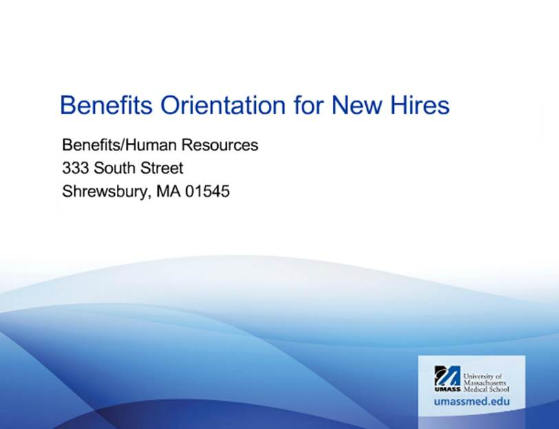 Image of Benefits Orientation for New Hires video