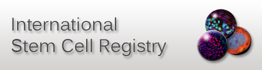 International Stem Cell Registry banner