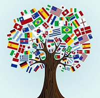 International Agreements Flag Tree
