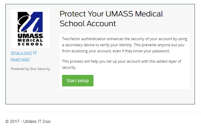 Multi – Factor Authentication Enrollment Instructions at the UMMS