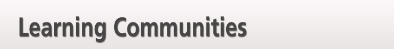 Learning Communities banner