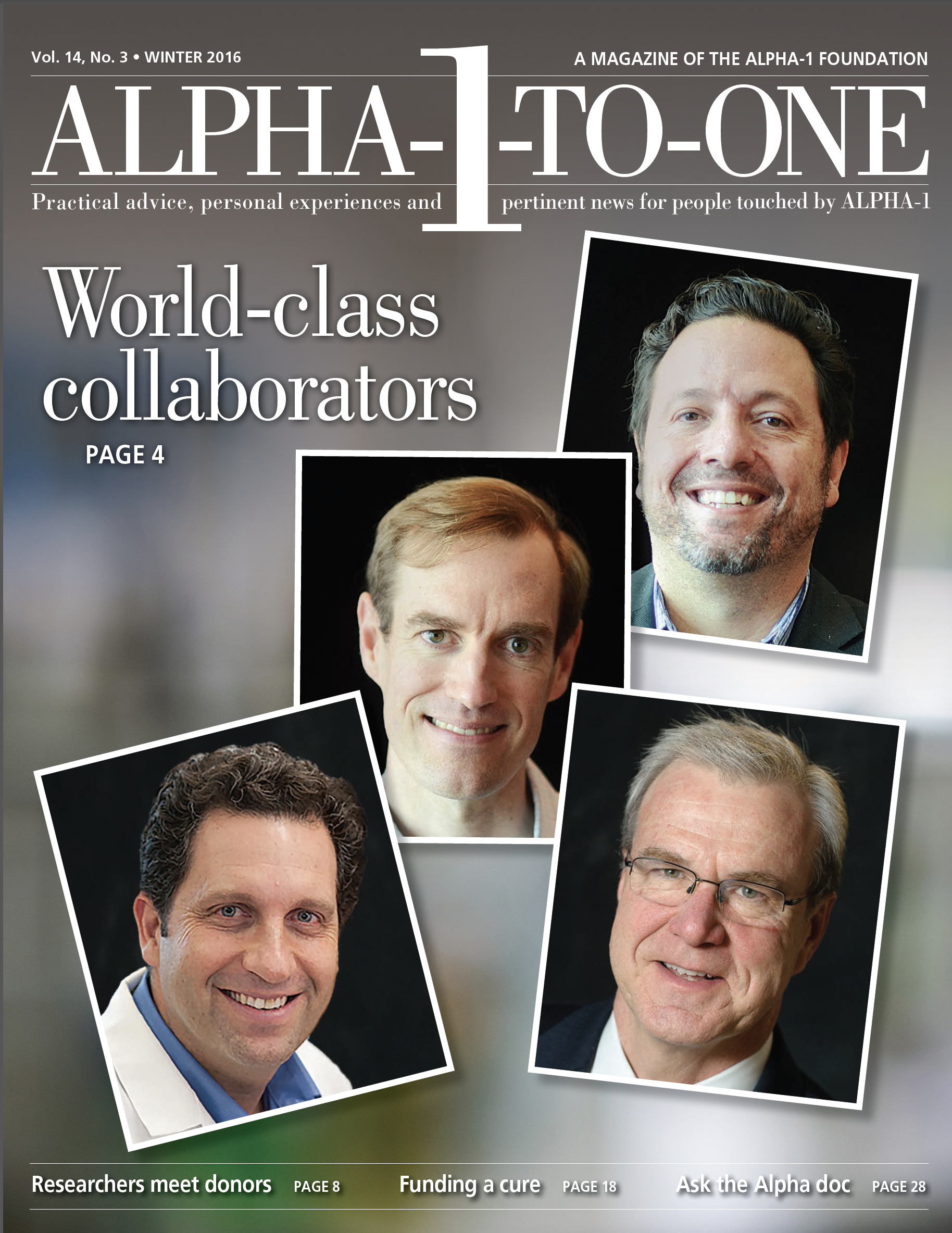 Alpha-1-to-One Winter 2016 cover