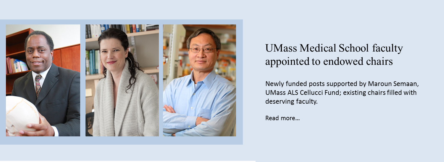 UMass Medical School faculty appointed to endowed chairs