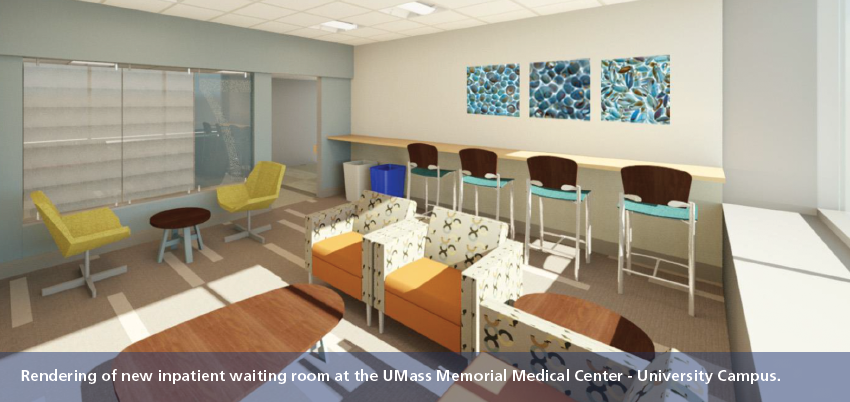 UMass Memorial patient room rendering