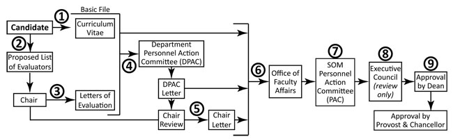 Appointment Process Flow Chart for the School of Medicine