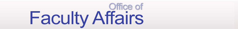 Office of Faculty Affairs banner