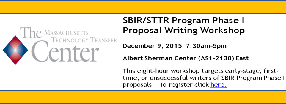 SBIR Workshop