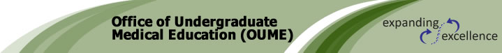 Office of Undergraduate Medical Education (OUME) banner