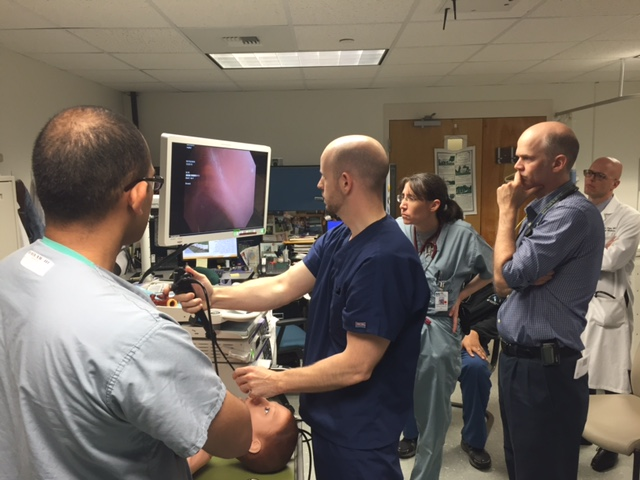 Pulmonary and Critical Care Fellowship training at Umass Memorial Medical Center bronchoscopy training simulation