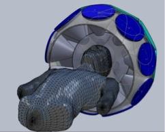 Frontal view SolidWorks CAD
