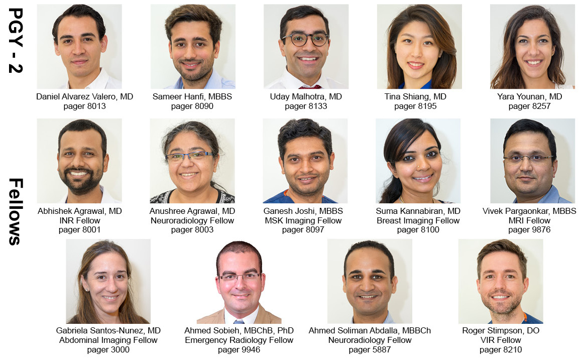 New Radiology Residents and Fellows 2018-2019 - UMass Medical School