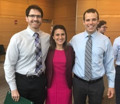 Photo of Rachelle Damle, MD, Brandon Colvin, MD and Jeffrey Brady