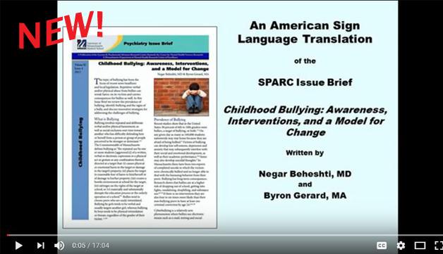 ASL video of childhood bullying issue brief