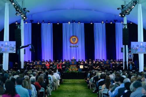 Commencement Exercises Under the Tent on the Green