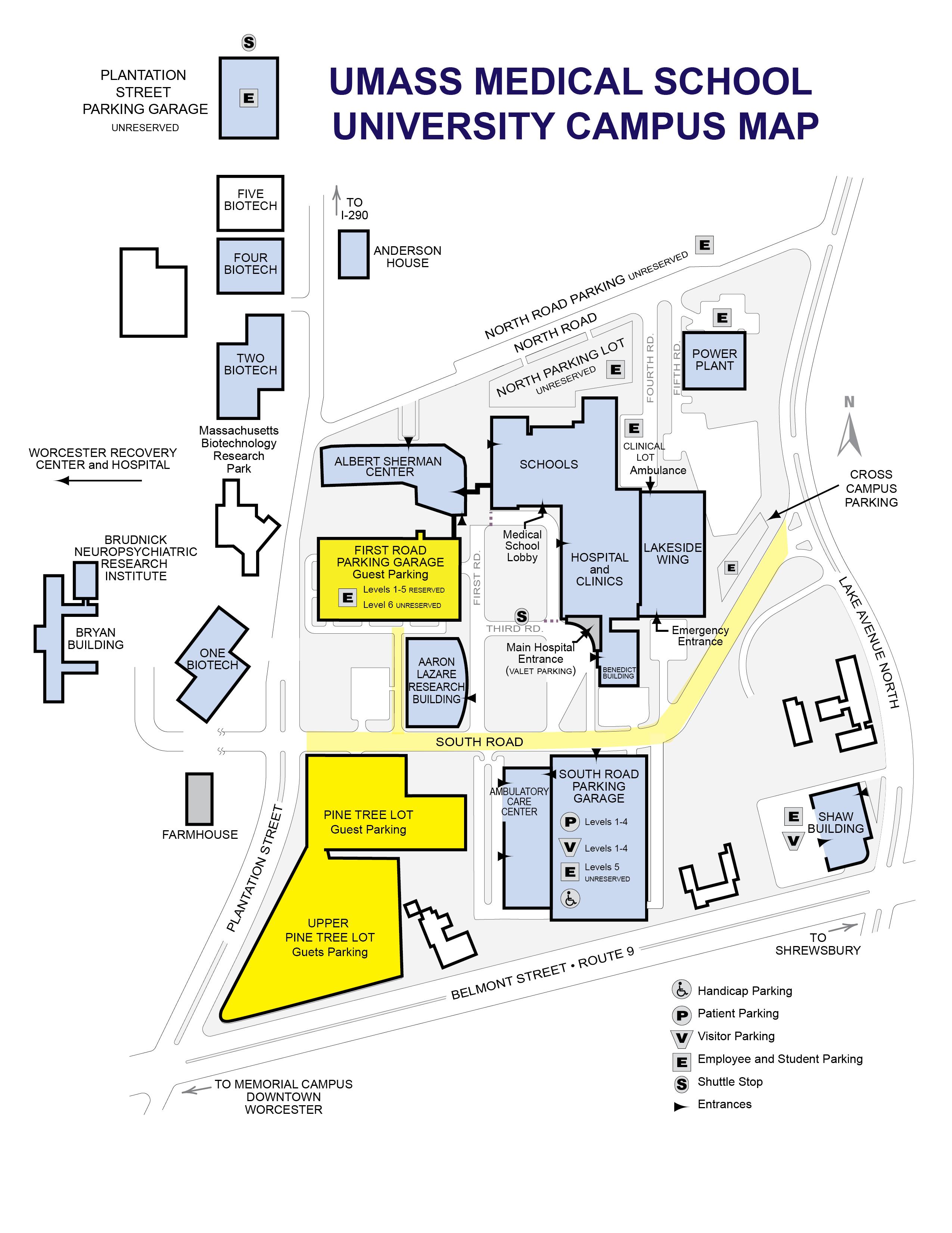 Lander University Campus Map.Parking