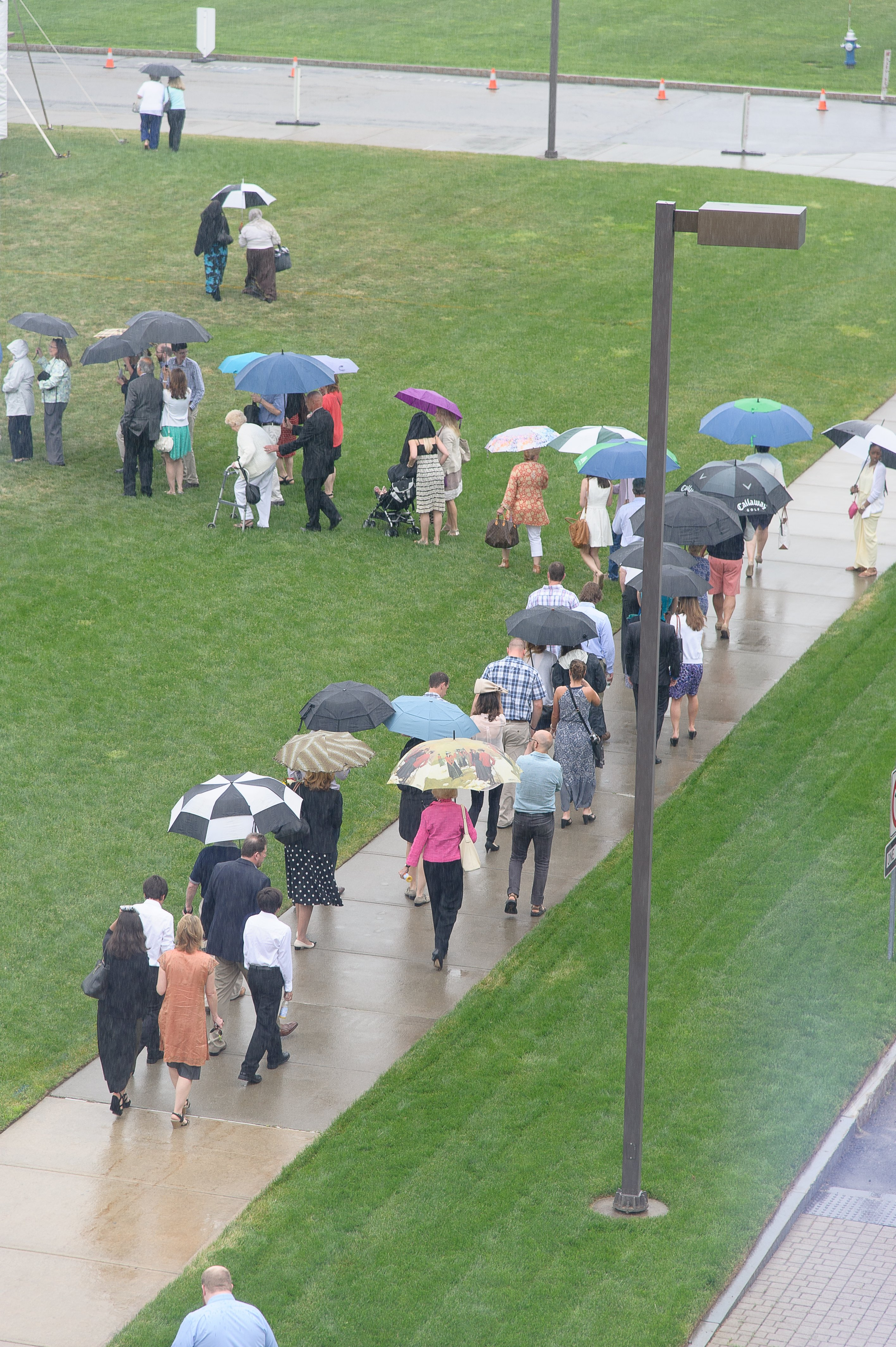 A rainy Commencement day 2015