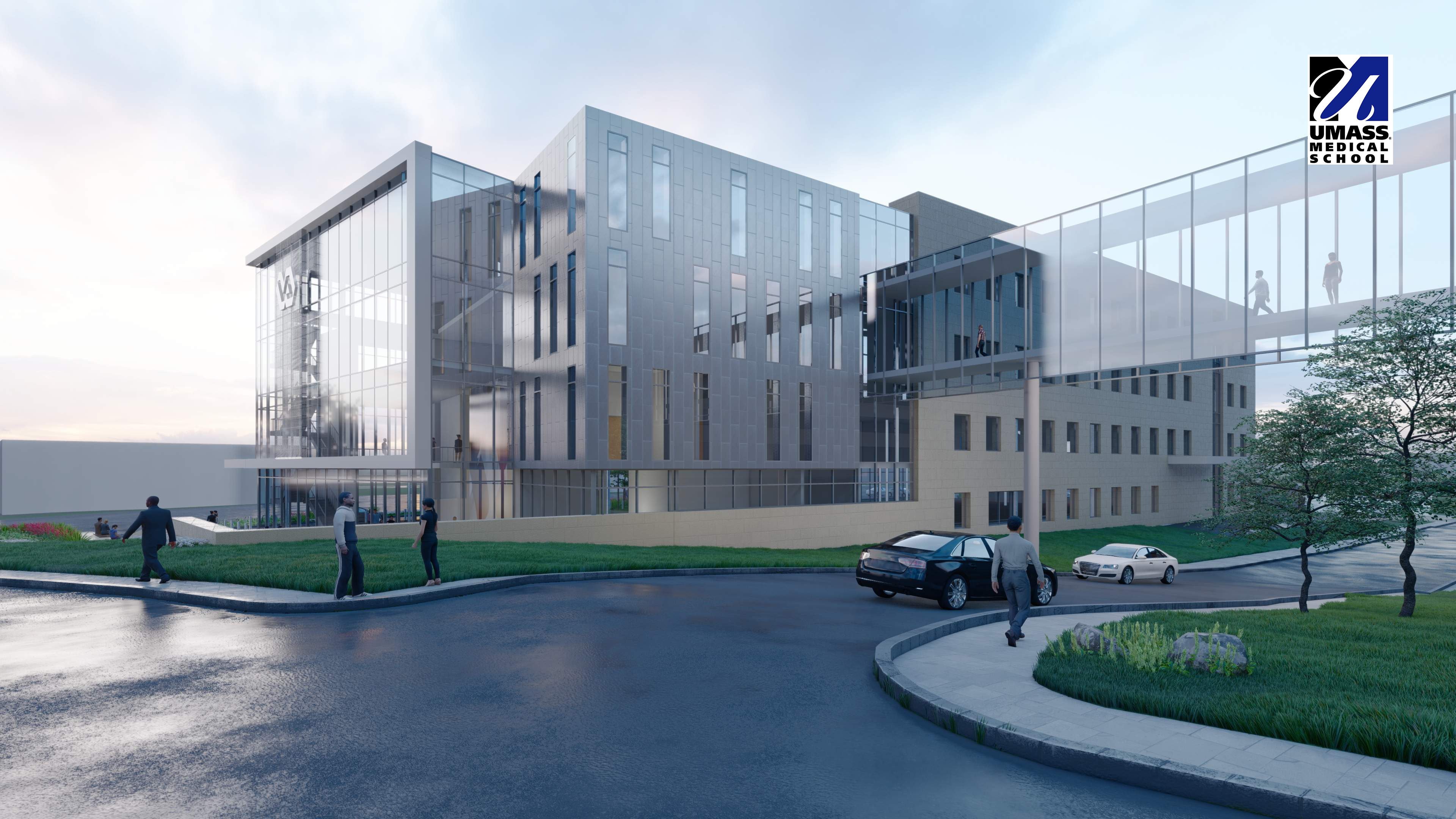 Rendering of the new VA building that will be built on the UMMS campus