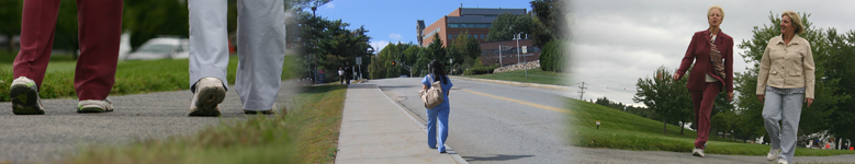 banner image showing adults walking outside